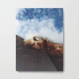 Foggy Zion Metal Print