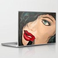 lip Laptop & iPad Skins featuring Lip Stick by Stews-Art
