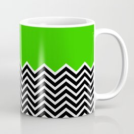 Flat Green and Classic Chevron Coffee Mug