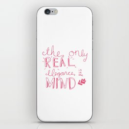 elegance is in the mind (pink) iPhone Skin
