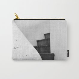 Black and White Stairs Carry-All Pouch