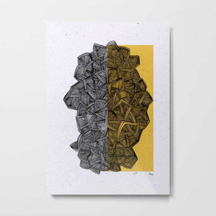 - blue grilled ocean - Metal Print