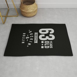 63 Years Old Gift | 63rd Birthday Gift Ideas - Mens and Womens Rug