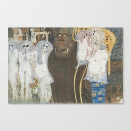 """Beethoven Frieze (Ghosts)"" / Gustav Klimt Canvas Print"
