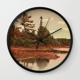 Grundy Lake Provincial Park Poster Wall Clock