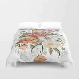 Roses and Poppies Duvet Cover