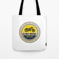 ducati Tote Bags featuring Ducati by Liviu Antonescu
