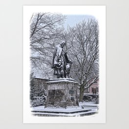 Tennyson in the Snow Art Print