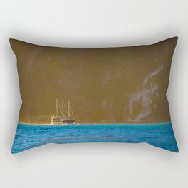 Milford Mariner at the Mouth of Tasman Sea - Milford Sound, New Zealand Rectangular Pillow
