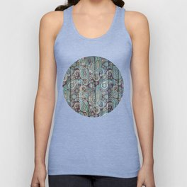Kashmir on Wood 06 Unisex Tank Top