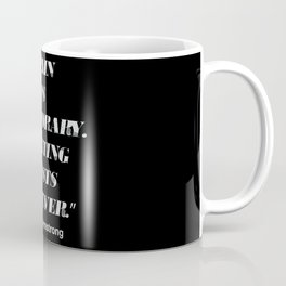 """Pain is temporary. Quitting lasts forever."" An Lance Armstrong quote Coffee Mug"