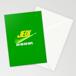 Brand Wars: Jedi - green lightsaber Stationery Cards