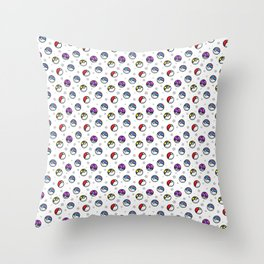 Classic Pokéball Pattern Throw Pillow