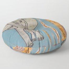 Elephant Music Floor Pillow