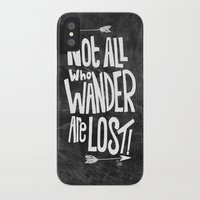 not all who wander are lost iPhone & iPod Cases featuring Not all who wander are lost! by  Steve Wade ( Swade)