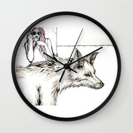 Mom, I Need A Ride... There's This Wolf... Wall Clock