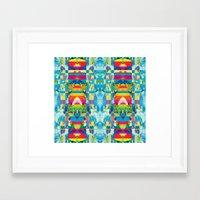 glitch Framed Art Prints featuring glitch by Xenia Pirovskikh