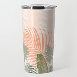Abstract tropical plants pastel Travel Mug