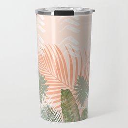 Abstract tropical plants pastel Travel Mug