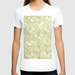 Lace knitting detail T-shirt