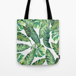 Jungle Leaves, Banana, Monstera #society6 Tote Bag