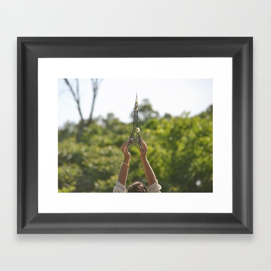 The World On My Shoulders Framed Art Print
