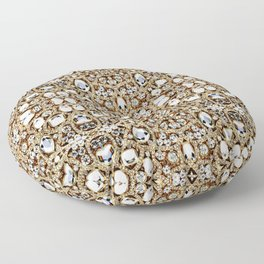 jewelry gemstone silver champagne gold crystal Floor Pillow