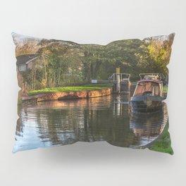 Passing Through Woolhampton Lock Pillow Sham