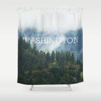 washington Shower Curtains featuring WASHINGTON by shannonfinnphotography