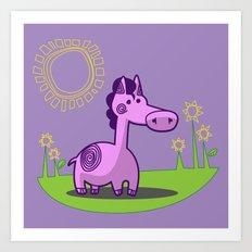 L. Horse Art Print