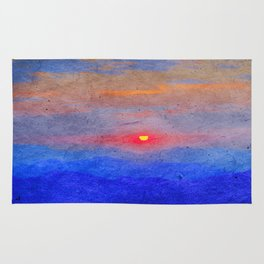 Paper-textured Sunset Rug