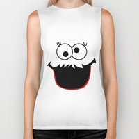 elmo Biker Tanks featuring Gimme Those Cookies Girl! by Alli Vanes