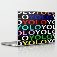 yolo Laptop & iPad Skins featuring YOLO by Jeremy Crabtree