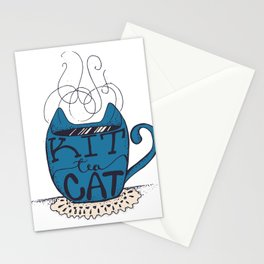 Kitty Cat Tea - Hand lettering Cup - Petroleum Stationery Cards