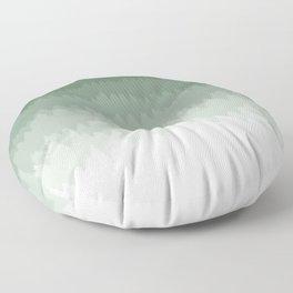 Green Ombré Forest Floor Pillow