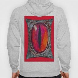 Reddish Silver Mystic Dragon Eye Jewel Hoody