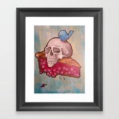 Death by Pie Framed Art Print