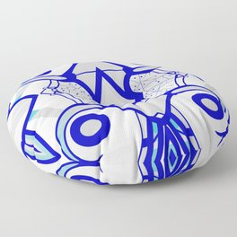 Blue morning - abstract decorative pattern Floor Pillow