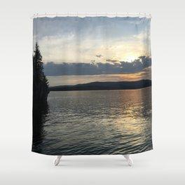 Summer Sunset on Flathead Lake Shower Curtain