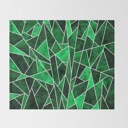 Shattered Emerald Throw Blanket