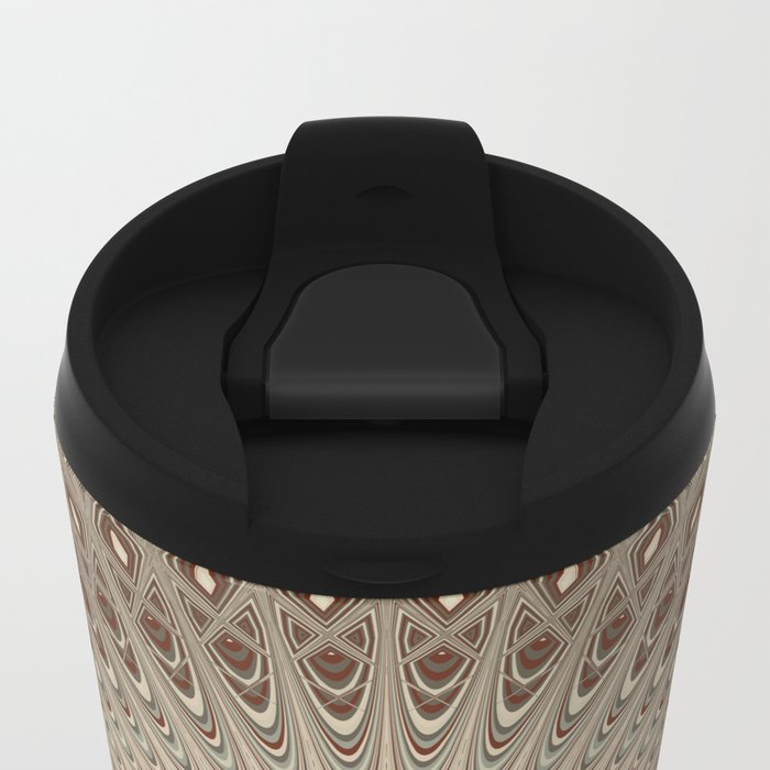 Beige mandala Metal Travel Mug