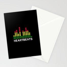 Heartbeats (black) Stationery Cards