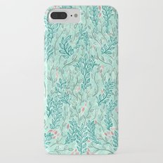 Blue Leaves iPhone 7 Plus Slim Case