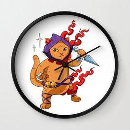 Ninja Cat Warrior - Cat Ninja Wall Clock