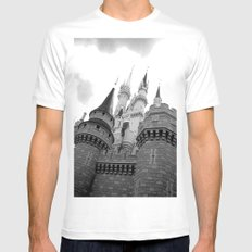 Disney Castle White Mens Fitted Tee MEDIUM