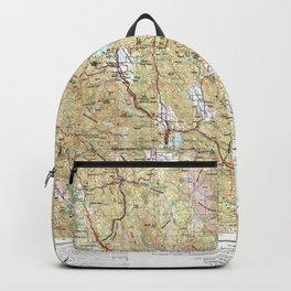 CA Ukiah 302181 1957 Topographic Map Backpack