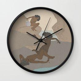 Cave Sea Nymphs Study Wall Clock