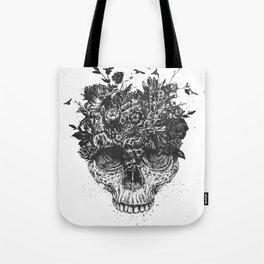 My head is a jungle (b&w) Tote Bag