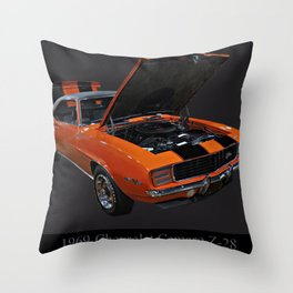 1969 Chevy Camaro Z28 Throw Pillow