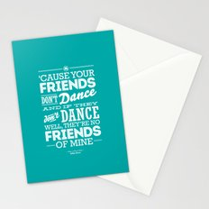 One Hit Wonder- Safety Dance in Teal Stationery Cards